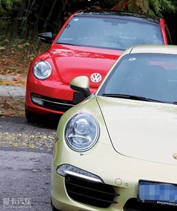 进口大众甲壳虫对比mini cooper高清图片