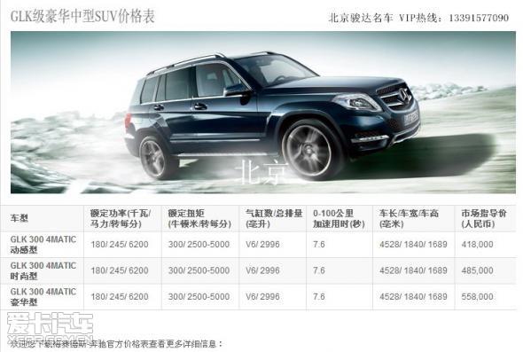 14款奔驰glk300最低价格 14款glk北京专卖 vip热线 高清图片