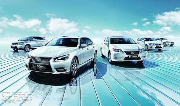 lexus hybrid drive雷克萨斯油电混合动力汽车是各自价位段的顶高清图片