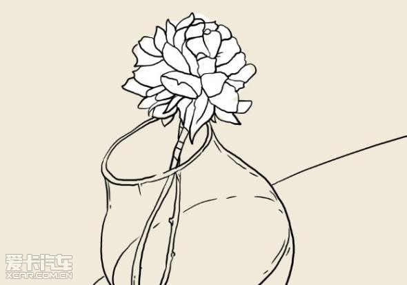 玫瑰手捧花手绘