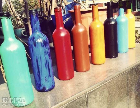 diy红酒瓶彩绘