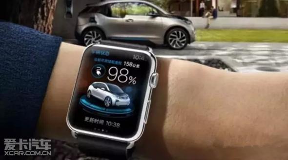 让你的驾享生活更加简单美好,从此只是举手之劳。这款专为BMW i车主配备的智能手表APP包含了车辆电源管理系统、导航系统、空调系统等操作,车主通过它可以:轻松获悉车辆的续航里程、当前电量和剩余充电时间,时刻给予最新的电能状态;查看车门是否锁好,安全防范不再需要亲力亲为;智能导航系统,助你从容抵达目的地;远程遥控前照灯,让你在黑暗的车库里,轻松找到自己的爱车;远程遥控空调,真正做到一进车厢,冬暖夏凉。 紧随全新纯电动BMW i3和插电式混合动力跑车BMW i8的上市,BMW i不断延展相关BMW 360电