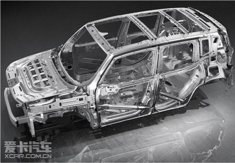 自由侠整车高达70%高强度钢车身结构