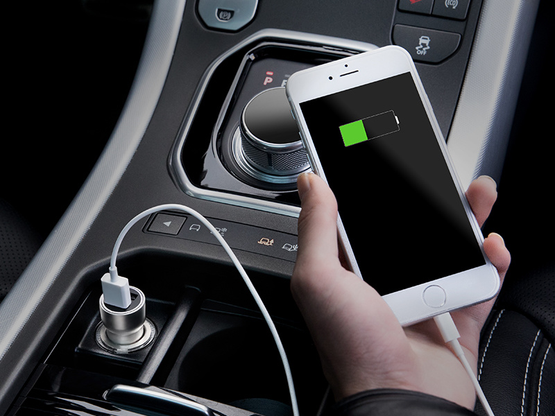 纯铜一体机身高效充电不发烫,双USB主副驾同时充电,首发上线立减10元