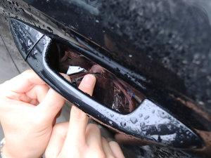 爱卡手工课巧贴车门把手保护膜