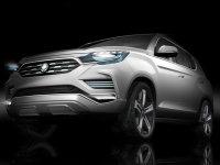 双龙全新旗舰SUV预告图 将巴黎车展首发