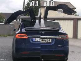 黑科技 特斯拉V8.0系统将加快开门速度