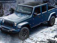 Jeep全新牧马人渲染图 将推出皮卡版本