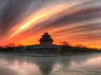 今天上午被北京的朝霞刷屏了!