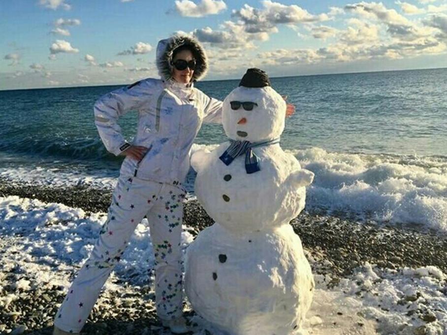 在冰天雪地的索契度假