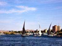 尼罗河谷风情风景
