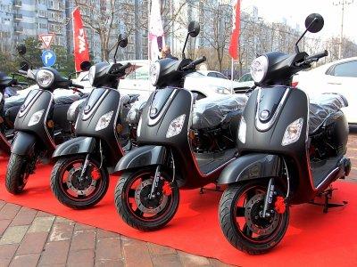 三阳Fiddle3电喷摩托车 北京首发仪式