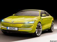 斯柯达纯电动跑车假想图 或2019年发布
