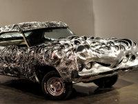 """一辆老爷车与3D打印的怪诞""""碰撞"""""""