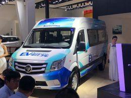 2017广州车展:福田图雅诺EV正式上市