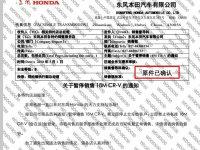 机油门再起波澜 东风本田CR-V暂停销售