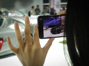 北京车展 你的手机为谁而举起