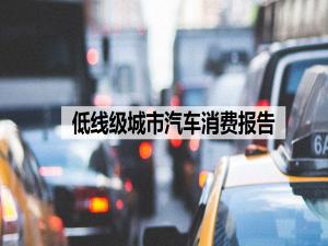 低线级城市汽车消费市场研究