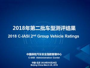 中国保险汽车安全指数二批结果