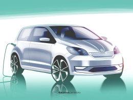 斯柯达Citigo电动版预告图 5月23日首发