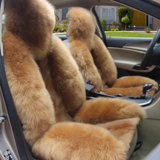 新款狼皮座垫纯毛绒车垫套