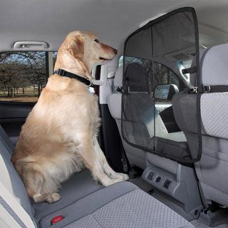 汽车后排座宠物狗屏风