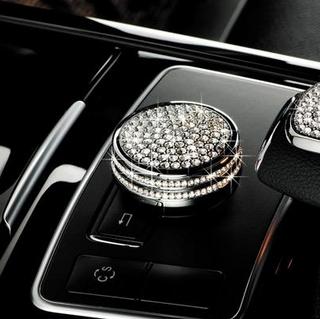 奔驰专用钻饰中控调节钮水晶贴