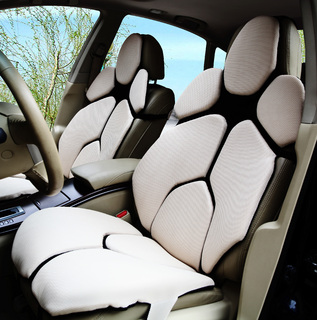 手工设计制作时尚皮质汽车坐垫