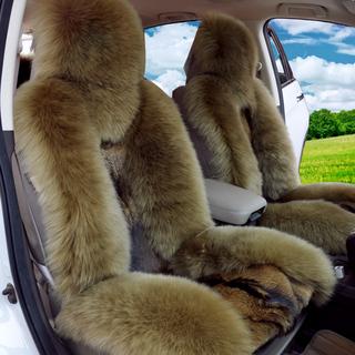 晶都冬季汽车羊毛座垫