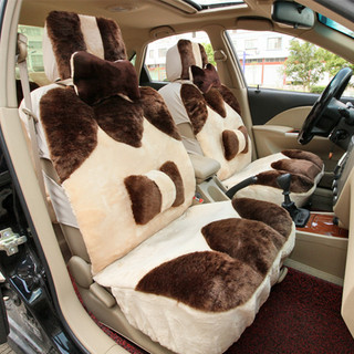 冬季车垫 毛绒汽车座垫