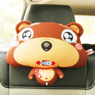 可爱棕熊汽车座椅头枕 汽车靠枕