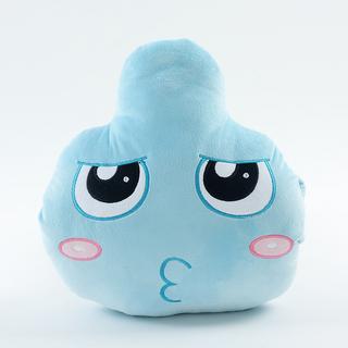 水滴表情毛绒玩具靠垫 腰靠图片