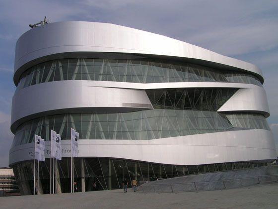 位于德国总部的Mercedes-Benz博物馆