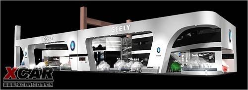 吉利北京车展展台 国际化设计风格抢先看图片