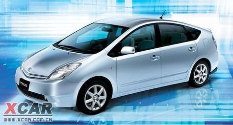 油电混合动力车丰田普锐斯高清图片