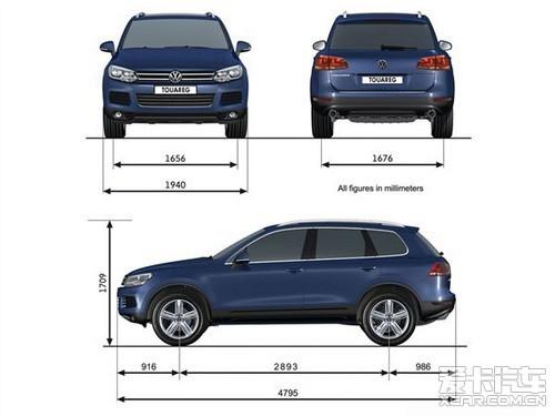 新款途锐的车身相比老款更加大气,同时                    素,在外观