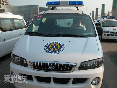 整装待发的瑞风救护车 江淮瑞风荣获重庆史上最大政府采购