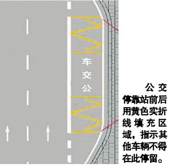 通行标线(中间虚线表示不可变线,中间实线表示可变线).-驾驶员