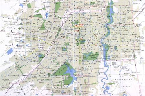 长春南湖地图手绘