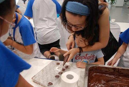 儿童diy巧克力制作