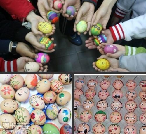 参加彩绘复活蛋体验寻宝画画的乐趣; 复活节画彩蛋图案画彩蛋的步骤和