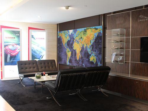 手绘展厅设计三视图