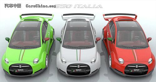 菲亚特500而设计打造的一款高性能微型车,整车外形最大的亮点高清图片