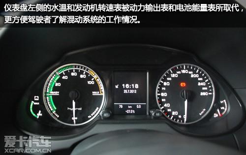 仪表盘左侧的水温和发动机转速表被动力输出表和电池能量表所取代图片