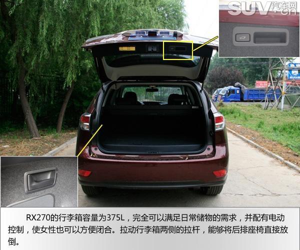 SUV评测 雷克萨斯RX270新老款对比 -雷克萨斯RX270图片 71953 600x500