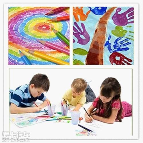 绘画作品形式不限,包括彩色水彩笔画