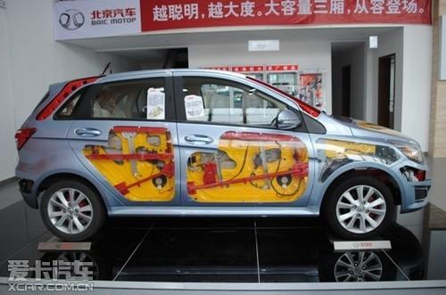 亲眼目睹北京汽车e系列的素颜裸装