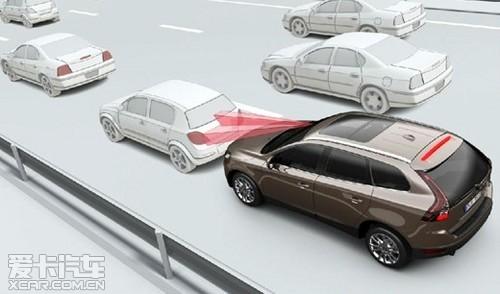 沃尔沃xc60新款自动刹车功能高清图片