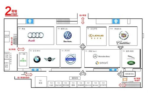 青岛国际车展展位分布图