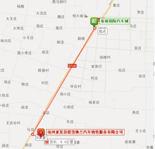 【最新】亳州亚夏雪佛兰地址图片导航 路线路程_爱卡